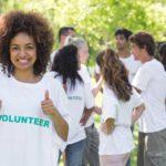 Group Volunteer smiling