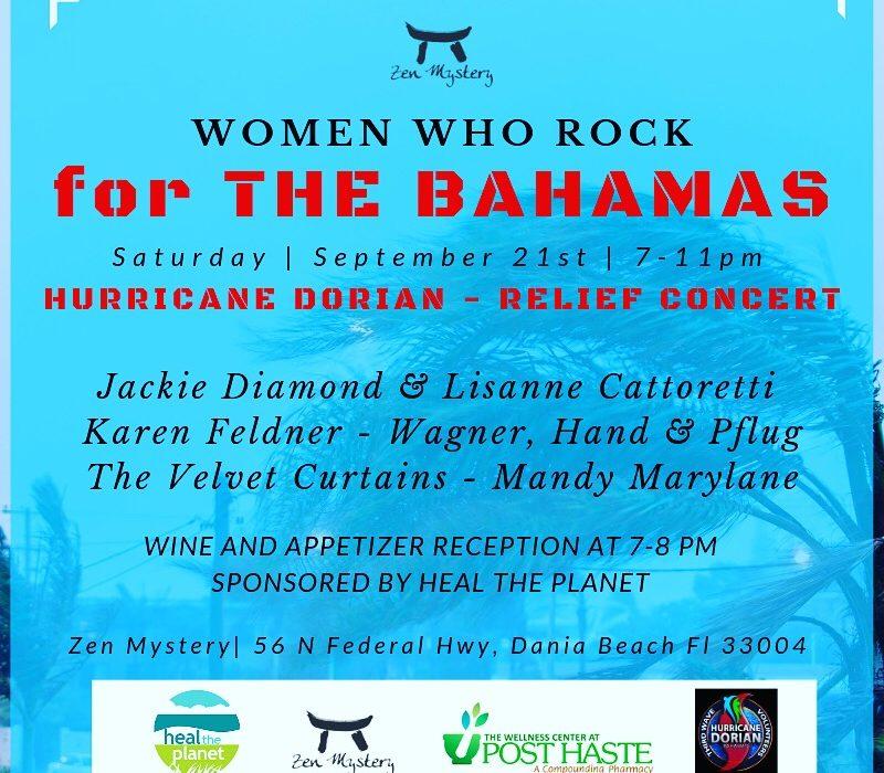 Women Who Rock – Hurricane Dorian Relief Concert