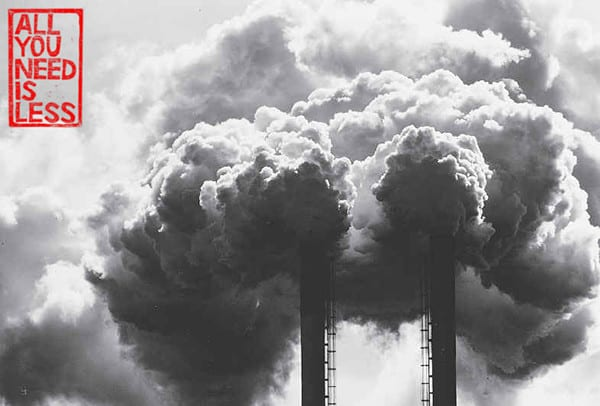 Air Pollution out of smokestacks