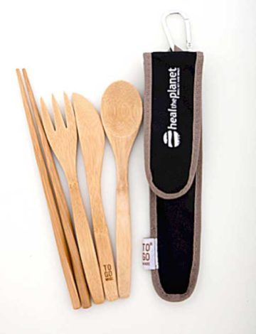 Bambooware Utensil Set (black)