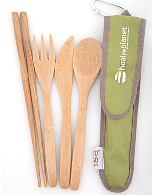 HTP Green Bambooware Utensil Set
