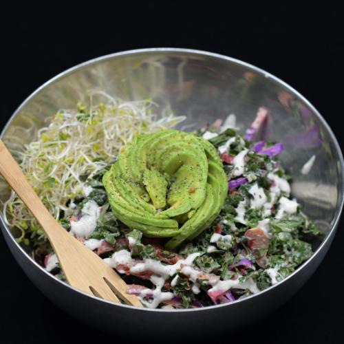 Cheezy Herbed Kale Salad
